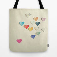 Paper Hearts Tote Bag