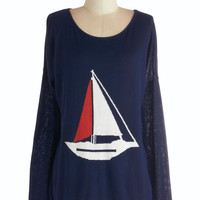 Sailing into Style Sweater | Mod Retro Vintage Sweaters | ModCloth.com