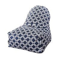Printed Kick-It Chair - Links - Navy Blue