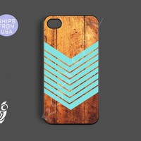 Iphone 5c case, iphone 5c case - Arrow Teal Wood Iphone Cases, Designer protective Rubber case for phones, Personalized Iphone 5c case
