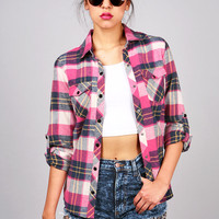Heart Warming Flannel | Trendy Clothes at Pink Ice