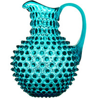 Apartment 48 - Shop - Entertaining - Hobnail Pitcher Translucent Teal - Home Furnishings and Interior Design - New York City