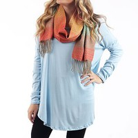 The Aiden Tunic, Light Blue
