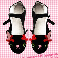 Kitty Cat Mary Jane Shoes - Size 8