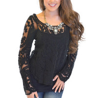 Closet Candy Boutique · Style and Lace Top Black