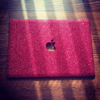 Red Glitter MacBook Case