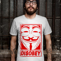 Disobey T-Shirt - Anonymous T-Shirt - Occupy Wall Street Design T-Shirt for Men (Various Color Available)