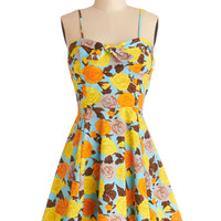 Getting Dot in Here Dress in Roses
