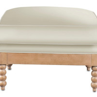 Bywell Ottoman by Currey & Co. | BURKE DECOR