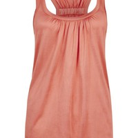 Buy Ted Baker Skylon Racer Back Vest Top, Orange online at JohnLewis.com - John Lewis