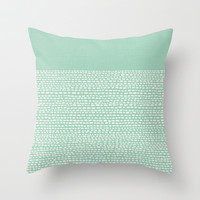 Riverside - Hemlock Throw Pillow by Jacqueline Maldonado