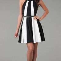 Short Sleeveless A-Line Dress