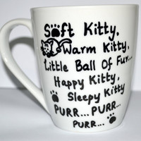 Soft Kitty Warm Kitty Sheldon Quote Coffee Mug For The Big Bang Theory Lovers, White 10 oz