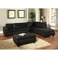 Venetian Worldwide Dallin Sectional Sofa - Black - Right