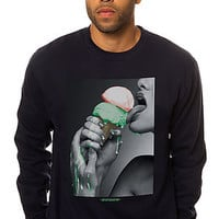 The Drip Crewneck Sweatshirt in Navy