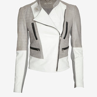 Yigal Azrouel Two Tone Leather Jacket-Just In-Jackets + Outerwear-Clothing-Categories- IntermixOnline.com