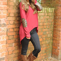 Hidden Treasures Sweater: Red | Hope's
