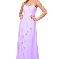 Rent Layered Chiffon Bridesmaid Dress in Lavender| Rent The Dress