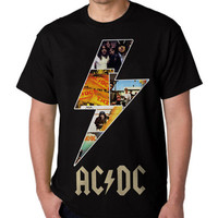 T shirt GIrl and ACDC Hardcore Band Logo, Funny T shirt, Hooded, Sweater, Sweatshirt, Hoodie mens,Funny Hoodie