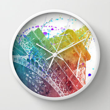 Paris je t´aime.. Wall Clock by Nika