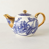 Jardin Des Plantes Tea Set by Ruan Hoffmann Blue
