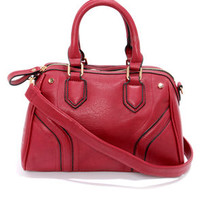Retro My Goodness Wine Red Purse