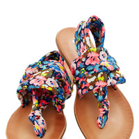 Stay in the Loop Sandal in Navy Floral | Mod Retro Vintage Sandals | ModCloth.com