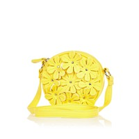 Girls yellow crossbody 3D daisy bag