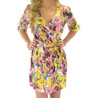 House Of Blooms Pink Floral Dress