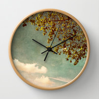 A feeling of spring Wall Clock by Yasmina Baggili
