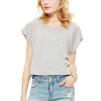 Raglan Lace Back Short-Sleeve
