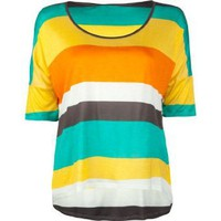 Amazon.com: FULL TILT Stripe Boxy Womens Top: Clothing