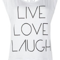 Amazon.com: FULL TILT Live Love Laugh Womens Top: Clothing