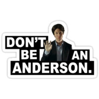 DON'T BE AN ANDERSON. T-Shirts & Hoodies