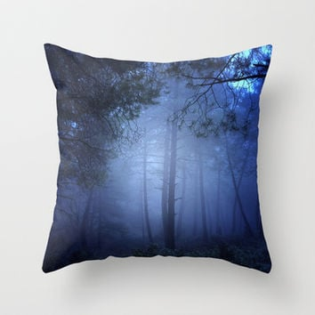 Fantasy forest Throw Pillow by Guido Montañés