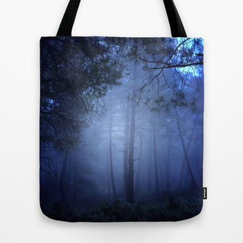 Fantasy forest Tote Bag by Guido Montañés