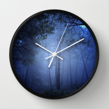 Fantasy forest Wall Clock by Guido Montañés