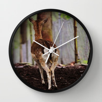 Deer  - JUSTART © Wall Clock by JUSTART