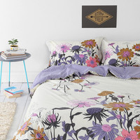 Plum & Blow Wallflower Duvet Cover - Urban Outfitters