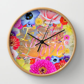 Is This Love II Wall Clock by RichCaspian