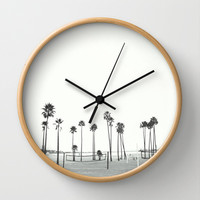 Bleached Beach Wall Clock by RichCaspian