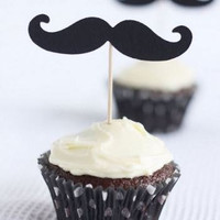 Free Shipping Set of 50 mustache moustache by itrhymeswithorange