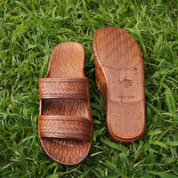 classic brown pali hawaii sandals - brown /