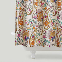 Paisley Floral Shower Curtain - World Market