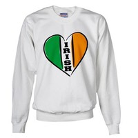irish Heart Flag Lettering Baby Sweatshirt by CafePress