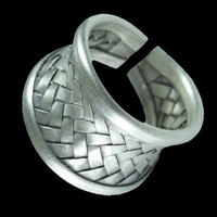 Beautiful And Unique Woven Silver Ring - Tribal Jewelry - Ethnic Jewelry - Unisex Jewelry - Native American Jewelry - Indian Jewelry