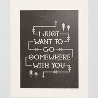 Alisa Bobzien Somewhere With You Art Print - Urban Outfitters