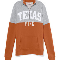 University of Texas Colorblock Half Zip Pullover - PINK - Victoria's Secret