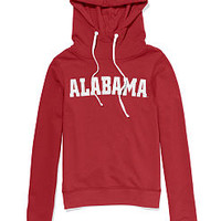 University of Alabama Bling Funnel-neck Hoodie - PINK - Victoria's Secret