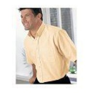 Short Sleeve Men's Shirt with Button Down Collar
